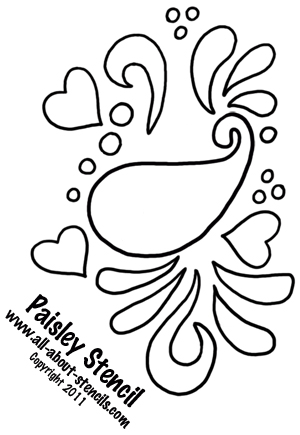 Use This Paisley Stencil in a Stencil Art Project and Find Free Stencils