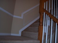 Hall and Stairway Trim Work - Low Maintenance Shadow Boxes ...