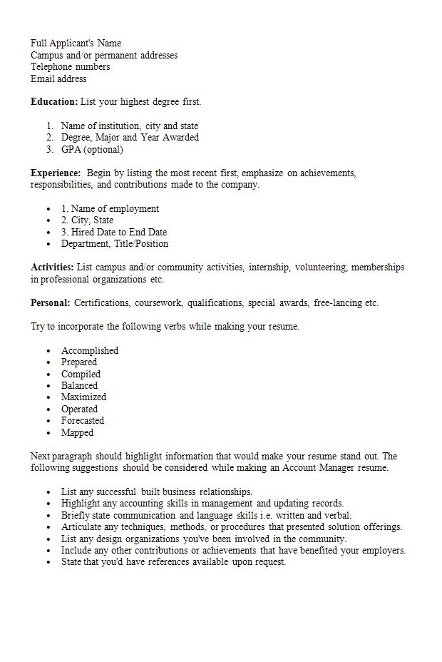 resume language proficiency