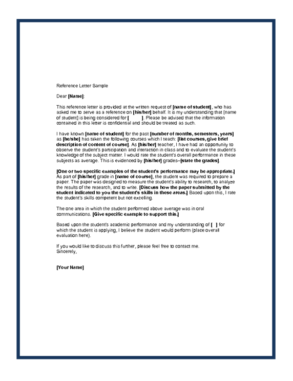 Recommendation Letter For Job Application Doc – Free Sample Professional Letter of Recommendation