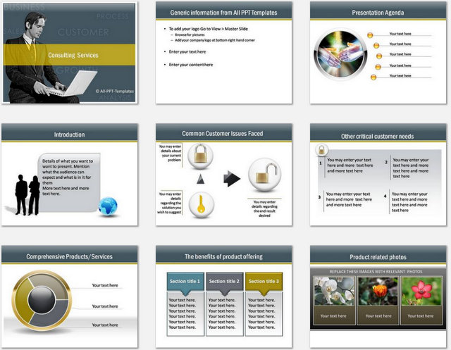 PowerPoint Consulting Services Template - consulting presentation templates