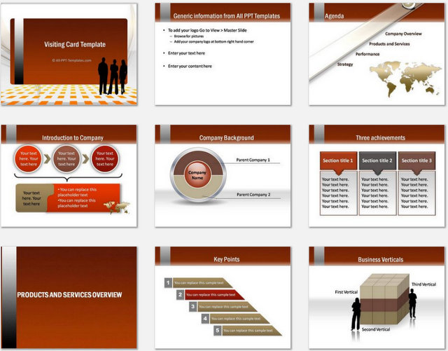 Free Company Profile Template Rfp Templates Powerpoint Gold Visiting Card Template