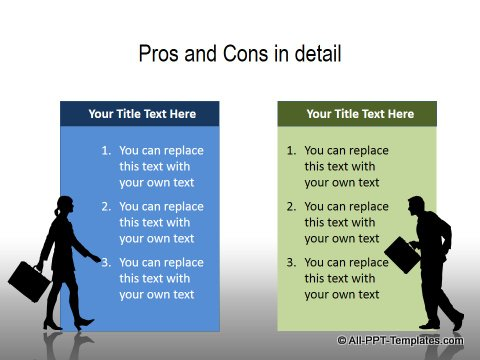 PowerPoint Pros and Cons Comparisons  Page 4