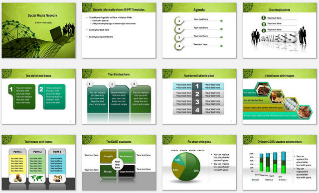 PowerPoint Social Network Template