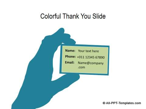 PowerPoint Thank You Slide Templates