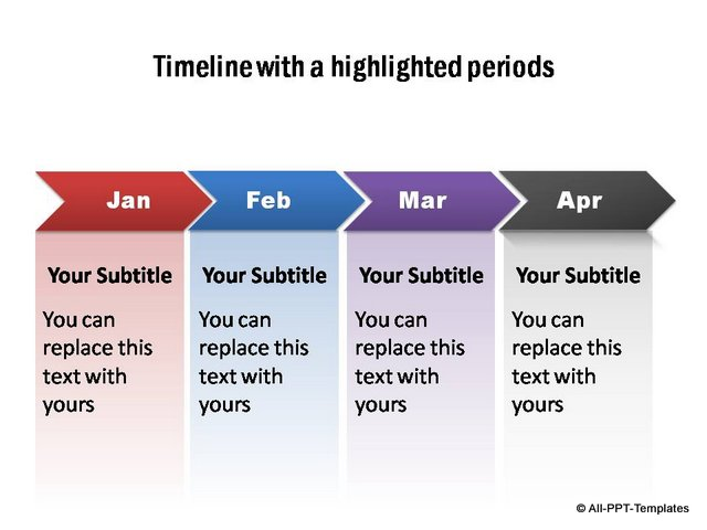 PowerPoint Timelines for Subscribers Page 4 Growth Concept