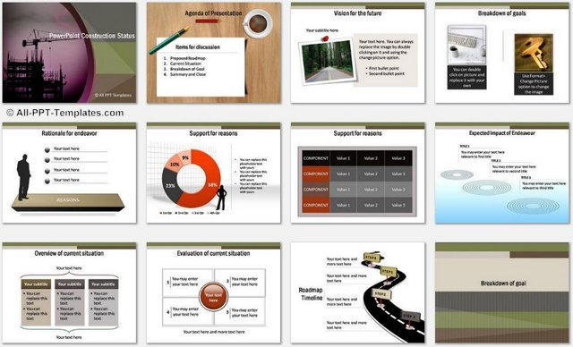 PowerPoint Construction Project Template - Presentation Project