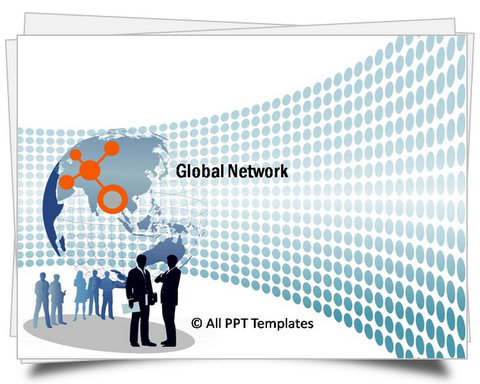 PowerPoint Global Network Template - global powerpoint template