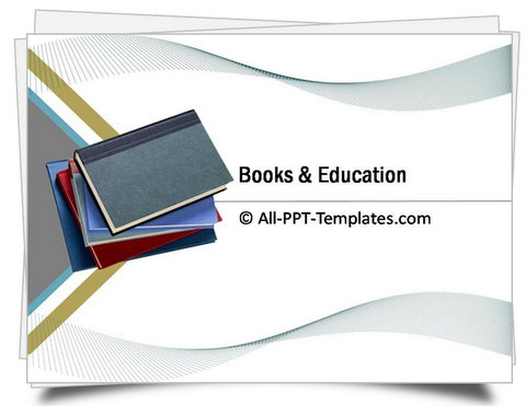 PowerPoint Books and Education Template - powerpoint books