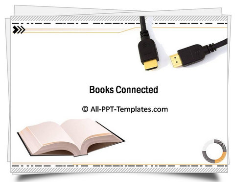 PowerPoint Books Connected Template - powerpoint books