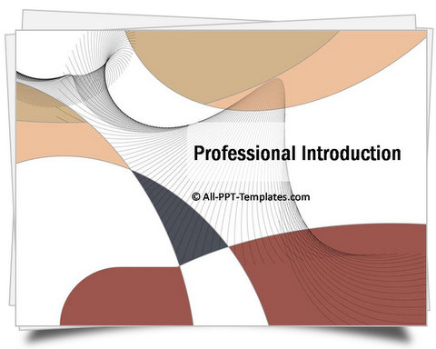 PowerPoint Professional Introduction Template - company profile template microsoft