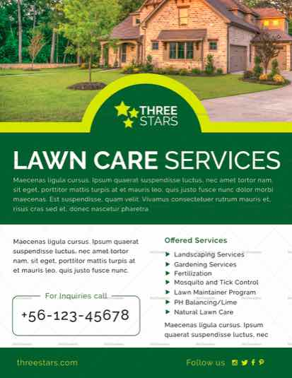 Lawn Care Flyer Templates - lawn services flyer