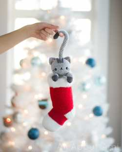 Small Of Cat Christmas Stockings