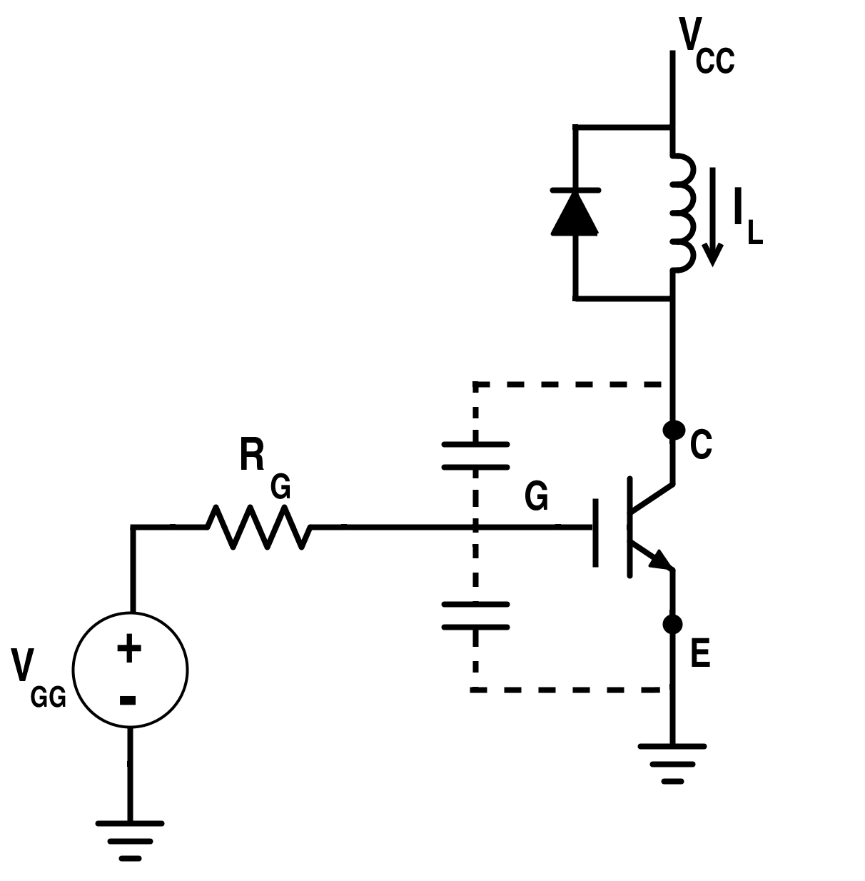 figure 9 switching circuit for igbt with clamped inductive load