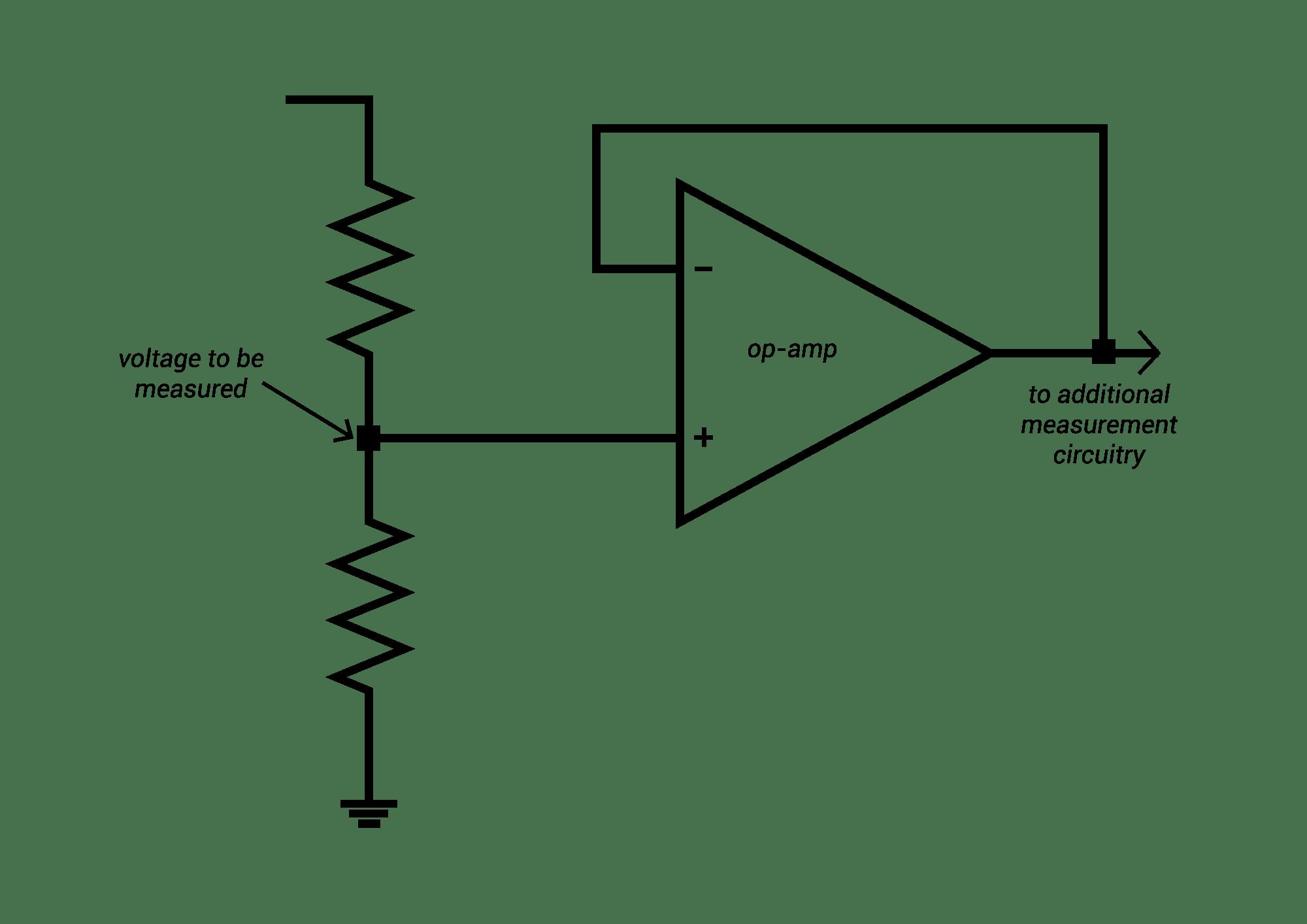 menu voltage follower current to voltage amp
