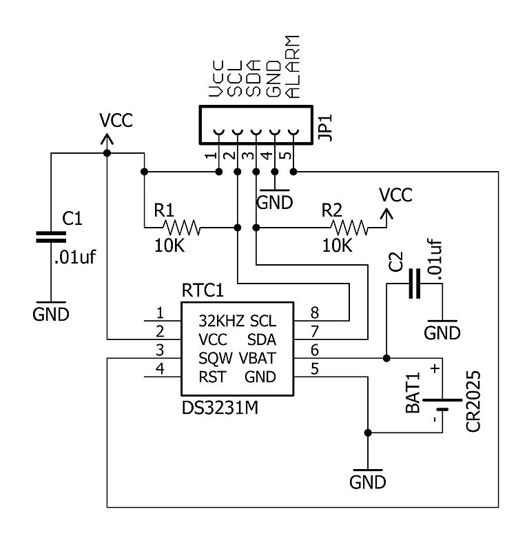 multiple alarm clock schematic