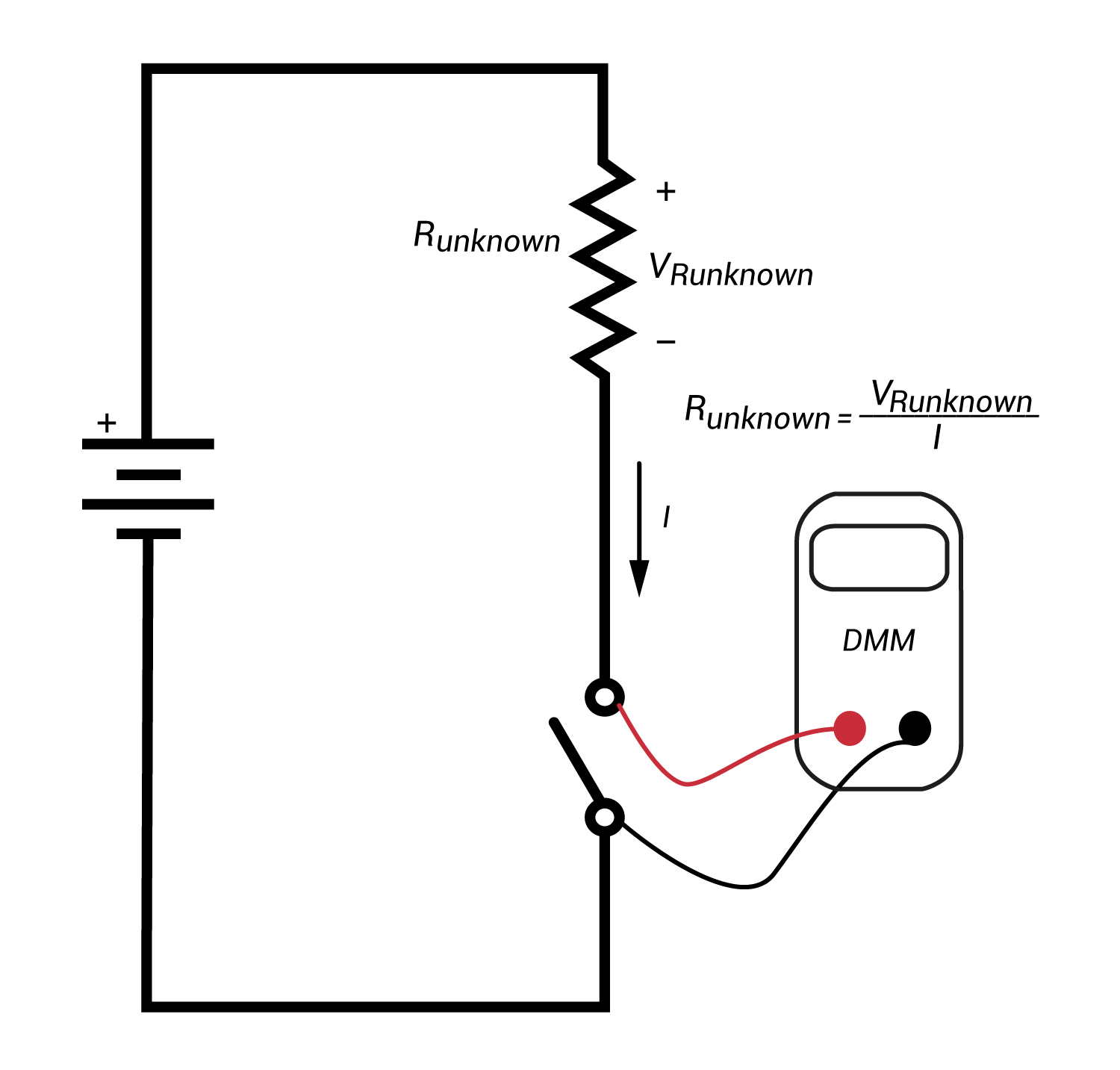how to measure voltage across a resistor