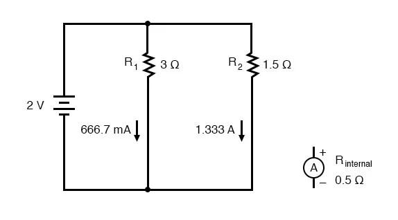 Ammeter Impact on Measured Circuit DC Metering Circuits