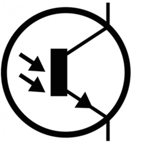 sensing circuit using a light dependent resistor is shown below
