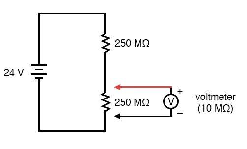 voltmeter impact on measured circuit