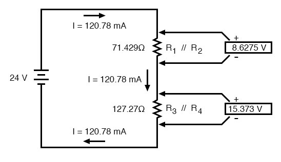 Analysis Techniques for Series Parallel Resistor Circuits Series