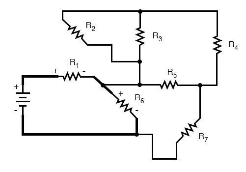 Re-drawing Complex Schematics Series-parallel Combination Circuits