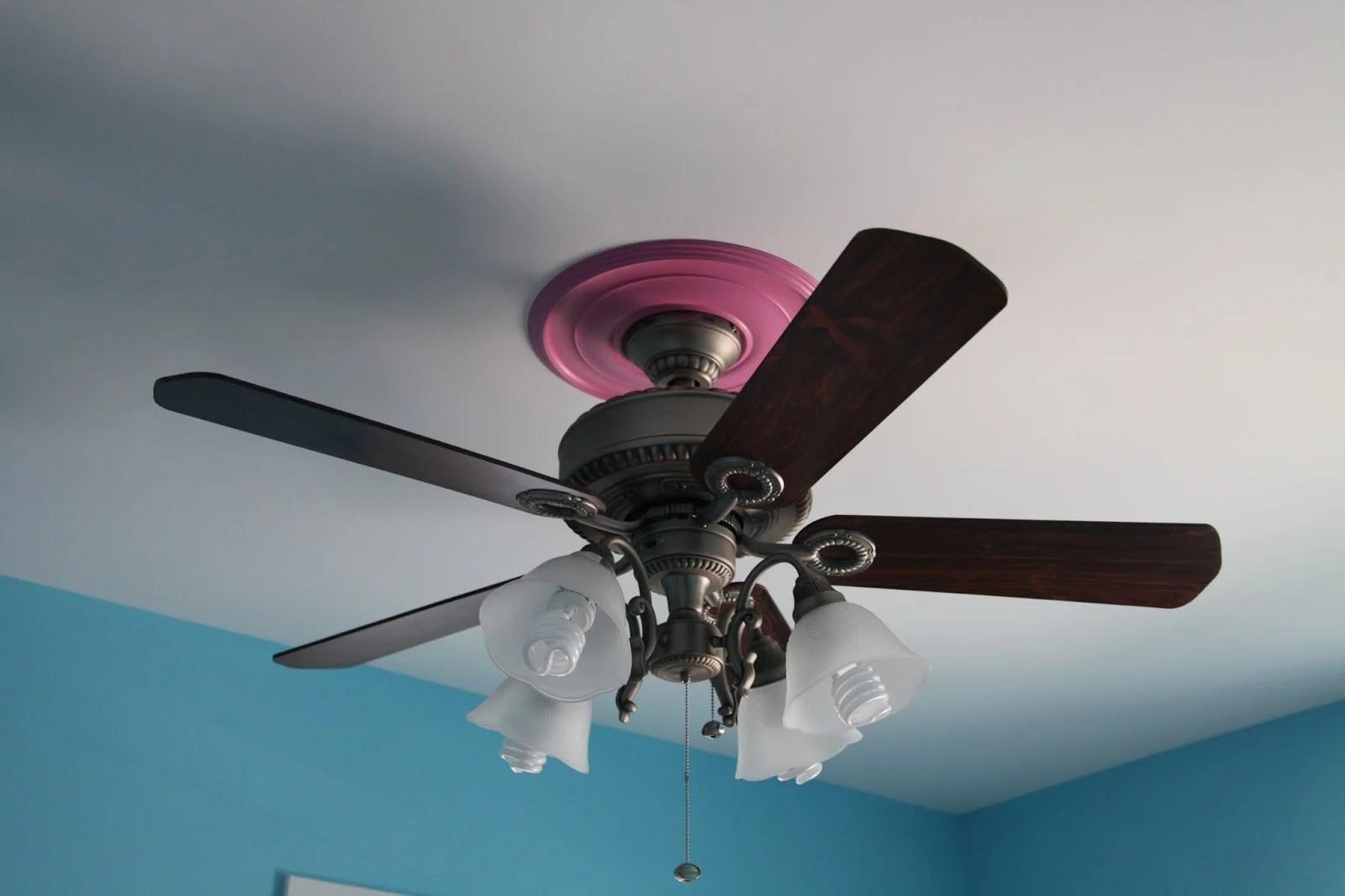 Cute Pink Girls Ceiling Fan Lights European StyleJollyHome