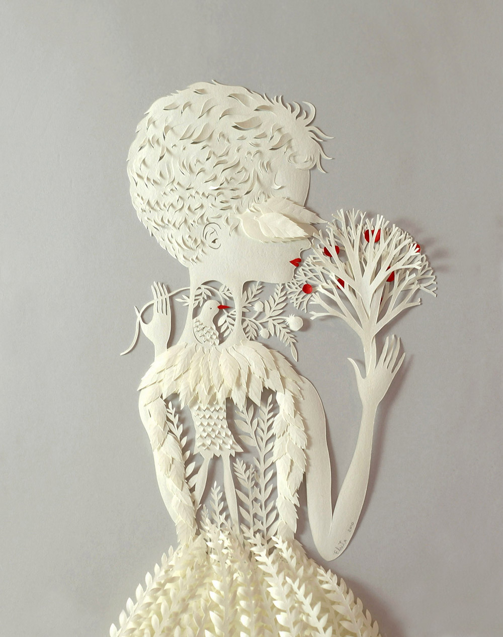 Por Dentro. Paper Sculpture by Elsa Mora