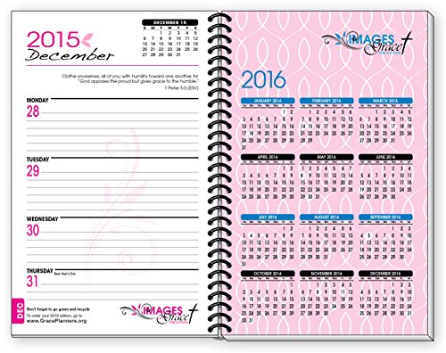 2015 Planner PINK Fish INSPIRATIONAL Christian Daily Planner