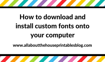 How to download and install custom fonts onto your computer