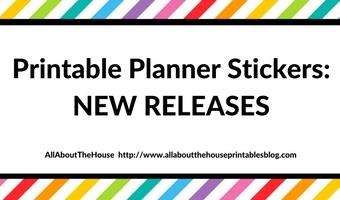 New Printable Planner Sticker Releases! (September)