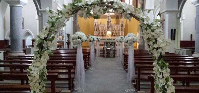 Ceremony Decor at St Josephs Church Clifden, Co. Galway