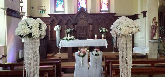 Ceremony Decor at the Star of the Sea Courtown, Co. Wexford