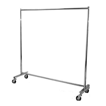Heavy Duty Single Bar Chrome Clothng Rack