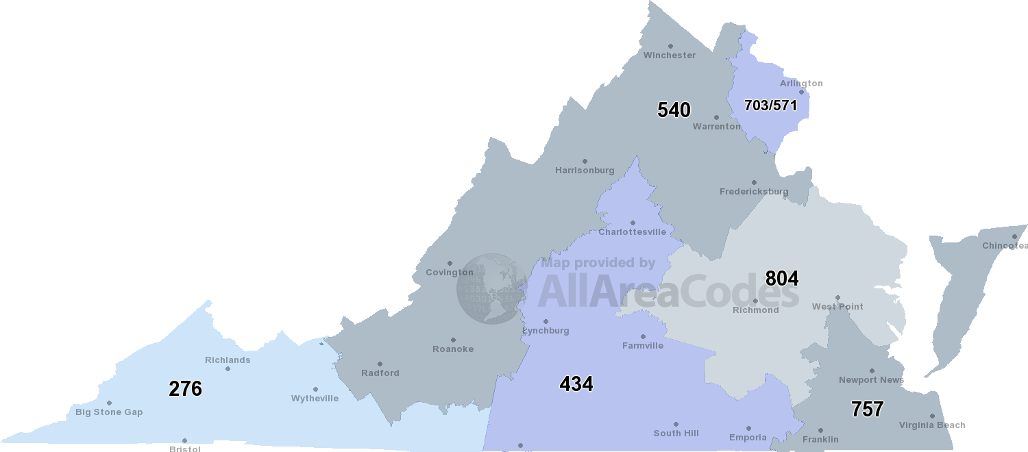Virginia Area Code Map Sydney Mobile Number