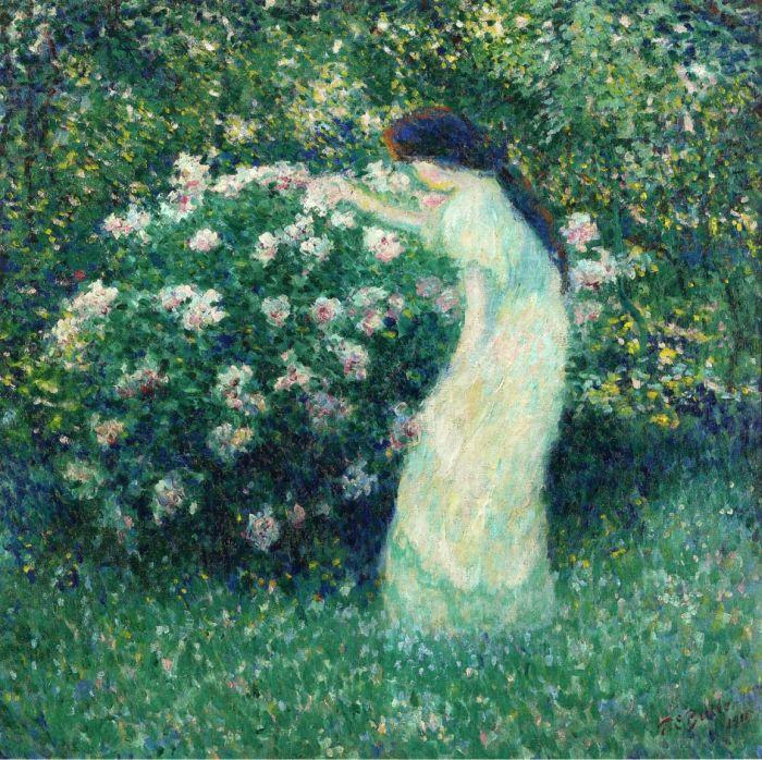 Lili Butler in Claude Monet\u0027s Garden, 1911 - Oil Painting Reproduction