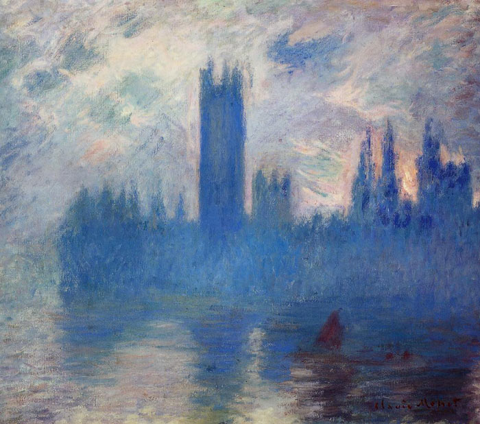 Monet Oil Painting - Houses of Parliament Westminster