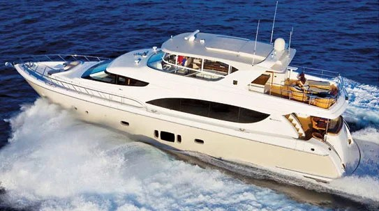 The new 80 Motor Yacht. Photo courtesy of Hatteras Yachts