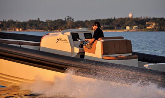 Yellowfin's new Custom 40 RHIB. Photo courtesy of Yellowfin Yachts