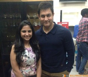 Neha Shah with actor Aamir Khan