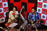 Ajay Devgn and Tabu during the promotions of Drishyam
