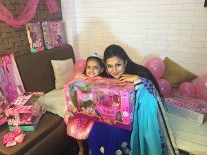 Ruhaanika Dhawan brings in her real birthday with Ishima (2)