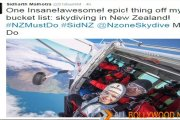 After walking on the Sky Tower and Sky Diving, Sidharth to Bungee Jump