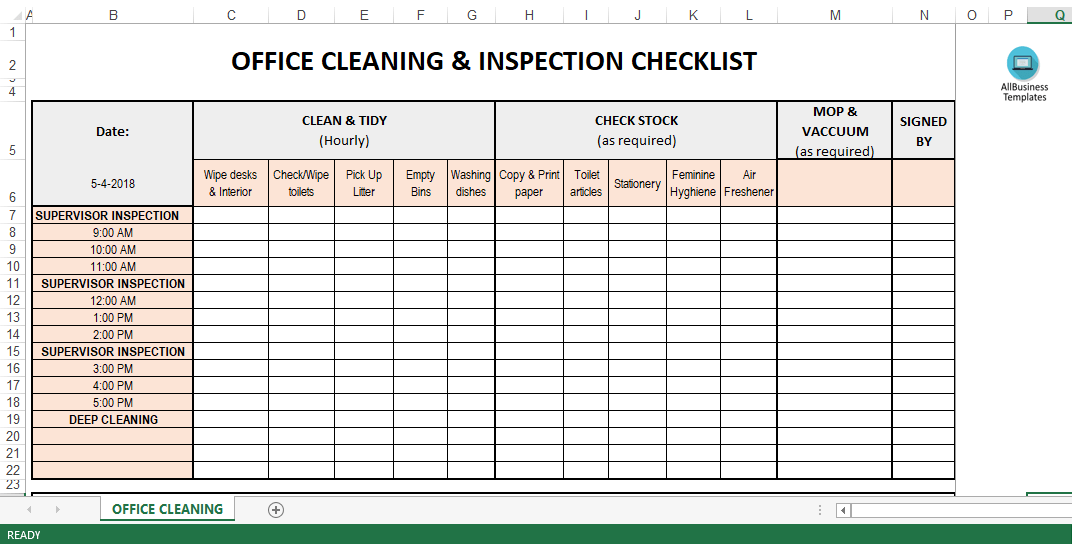 cleaning spreadsheet