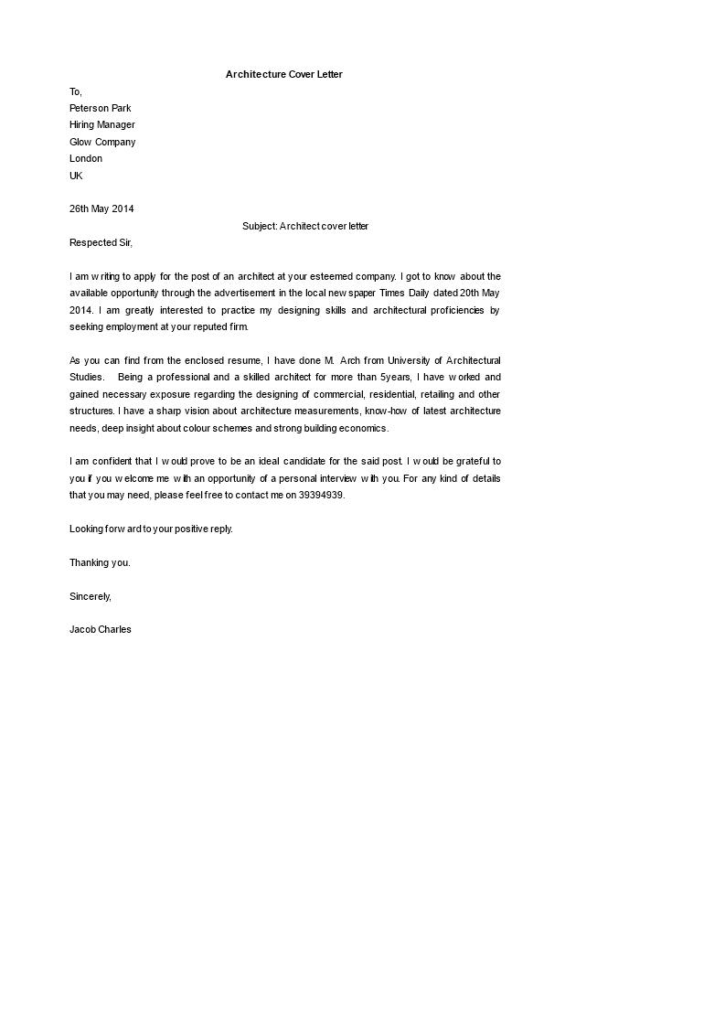 applying for a job letter