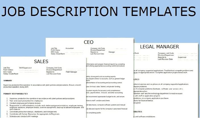 Job Description Template Topics about business forms, contracts - job description templates