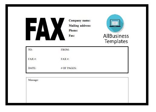 Free Blank fax cover sheet free Templates at allbusinesstemplates