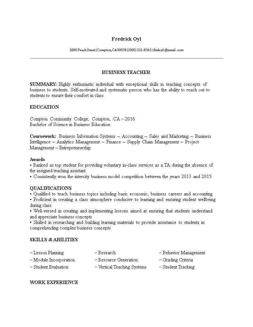 fill in the blanks resume