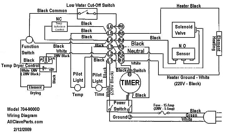 NAPCO 704-9000 Wiring Schematic