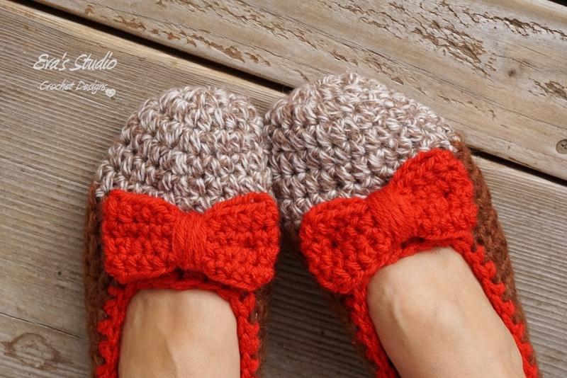 Cozy Crochet Slippers With Bow Crochet Pattern Allcrochetpatternsnet